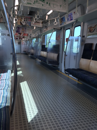 I've never seen a train this empty